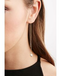 Forever 21 - Metallic Cc Skye Vega Drop Threader Earrings - Lyst