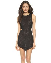 Free People - Scalloped Lace Midnight Hour Slip - Black - Lyst