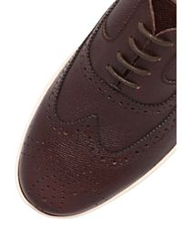 Ferragamo | Brown Marlow Embossed Leather Brogue Shoes for Men | Lyst