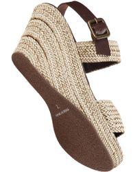 Sesto Meucci | Brown Woven Crisscross Wedge Sandal | Lyst