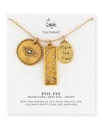 Sequin - Metallic Three-pendant Talisman Necklace - Lyst