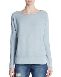 VINCE | Blue Slub Cotton Sweater | Lyst