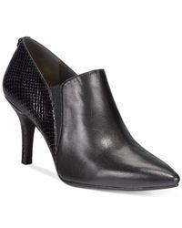 Anne Klein | Black Yeppy Pointed Toe Dress Booties | Lyst