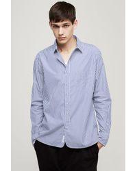 Rag & Bone - Blue 3/4 Placket Shirt for Men - Lyst