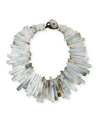 Viktoria Hayman | Metallic Mother-of-pearl Statement Collar for Men | Lyst