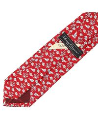 Ferragamo - Red Multi-butterfly Print Tie for Men - Lyst