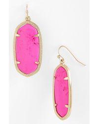 Kendra Scott | Purple 'elle' Drop Earrings - Magenta | Lyst
