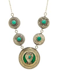Natalie B. Jewelry - Green Esmeralda Necklace - Lyst