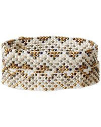 Chan Luu - Metallic 2 Pack Beaded Stretch Bracelet - Lyst