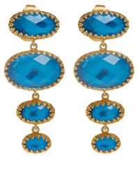 Larkspur & Hawk | Metallic Small Teal Tessa Topaz Earrings | Lyst