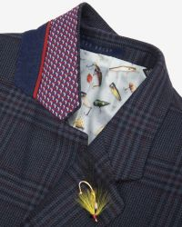 Ted Baker - Blue Checked Wool Blazer for Men - Lyst