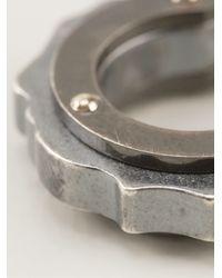 Bottega Veneta - Metallic Cogwheel Hoop Earrings - Lyst