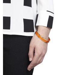 Halcyon Days   Orange Enamel Bracelet   Lyst