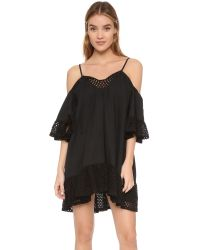 Suboo - Black Sundance Eyelet Beach Dress - Lyst