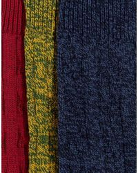ASOS | Multicolor Cable Boot Socks 3 Pack for Men | Lyst