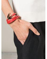 McQ | Red Swallow Triple Wrap Bracelet | Lyst