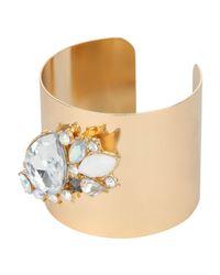 Jane Norman | Metallic Teardrop Diamante Cuff Bracelet | Lyst