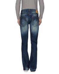 True Religion - Blue Denim Trousers for Men - Lyst