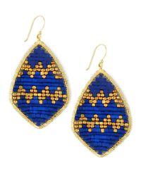 Nakamol | Blue Beaded Teardrop Earrings | Lyst