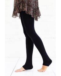 Urban Outfitters - Black Fleece-Lined Footless Tight - Lyst