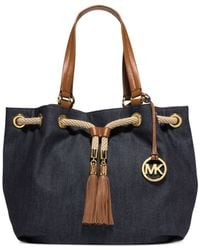 Michael Kors - Blue Michael Marina Large Gathered Tote - Lyst