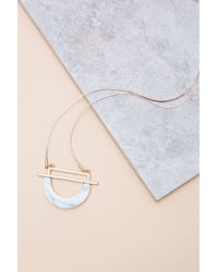 Urban Outfitters | Metallic Geo Howlite Pendant | Lyst