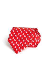 Ferragamo | Red King Lion Classic Tie for Men | Lyst