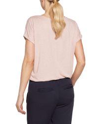 Sandwich - Gray Flower Print Jersey T-shirt - Lyst