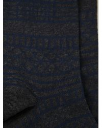 KENZO - Gray Patterned Socks for Men - Lyst