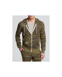 Alternative Apparel | Green Eco Fleece Rocky Zip Hoodie for Men | Lyst