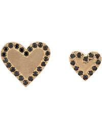 Bianca Pratt - Metallic Heart Studs - Lyst