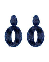 Oscar de la Renta | Blue O C Earrings | Lyst