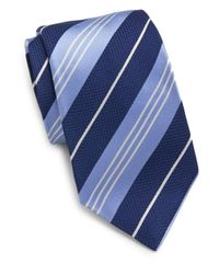 Saks Fifth Avenue | Blue Textured Stripe Silk Tie for Men | Lyst