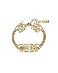 Biba - Metallic Gold Multi-chain Emblem Bracelet - Lyst