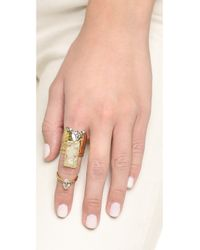 Alexis Bittar - Blue Two Part Paired Cocktail Ring - Aqua Green/gold - Lyst