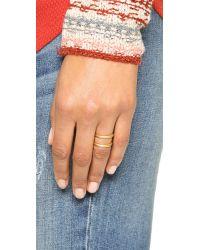 Madewell | Metallic Double Double Ring | Lyst