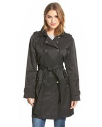 DKNY Black Double Breasted Trench Coat