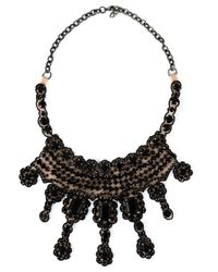 Valentino | Black Embellished Necklace | Lyst
