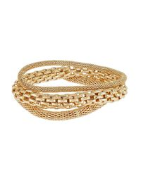 Catherine Stein | Metallic Three-Piece Mesh And Chain-Link Bracelets | Lyst