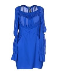 Balmain - Blue Short Dress - Lyst