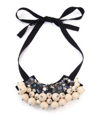 Marni | Natural Strass Ribbon Necklace | Lyst