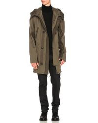 Yves Salomon - Green Cotton Parka With Coyote - Lyst