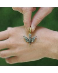 Sylva & Cie - Metallic Diamond Swallow Pendant - Lyst