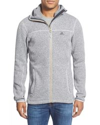 Adidas | Gray 'hochmoos' Full Zip Polar Fleece Hoodie for Men | Lyst