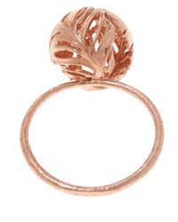 Alex Monroe - Pink Rose Gold-plated Peacock Feather Ring - Lyst