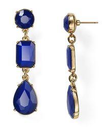 kate spade new york - Blue Riviera Garden Linear Earrings - Lyst
