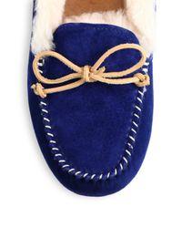 Ugg | Blue Alena Collared Tie Slipper | Lyst
