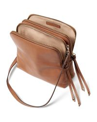 Banana Republic | Brown Double Pouch Crossbody | Lyst