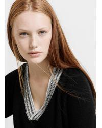 Violeta by Mango - Black Wool-blend Sweater - Lyst