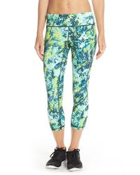 Zella | Green Live In - Inspire Capri Leggings | Lyst